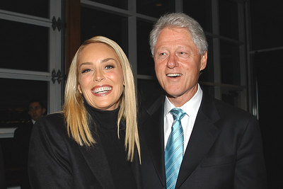 Bill Clinton and Sharon Stone