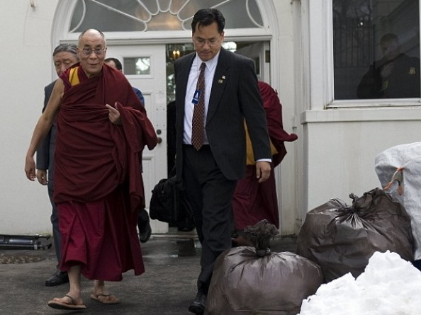 Dalai Lama Ushered Past White House Trash