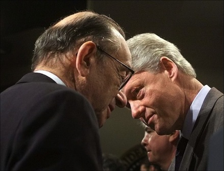 Greenspan and Clinton