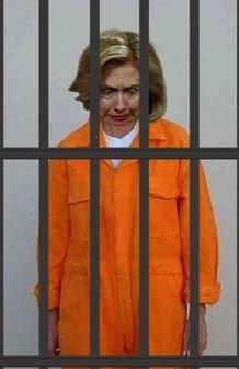 Hillary behind bars