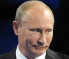 Putin's bloated face
