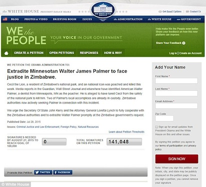 White House petition