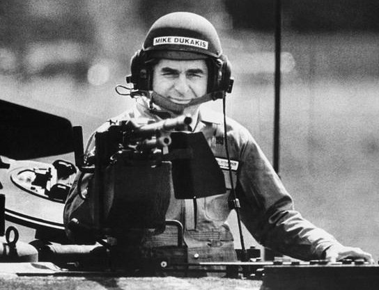 Dukakis in tank