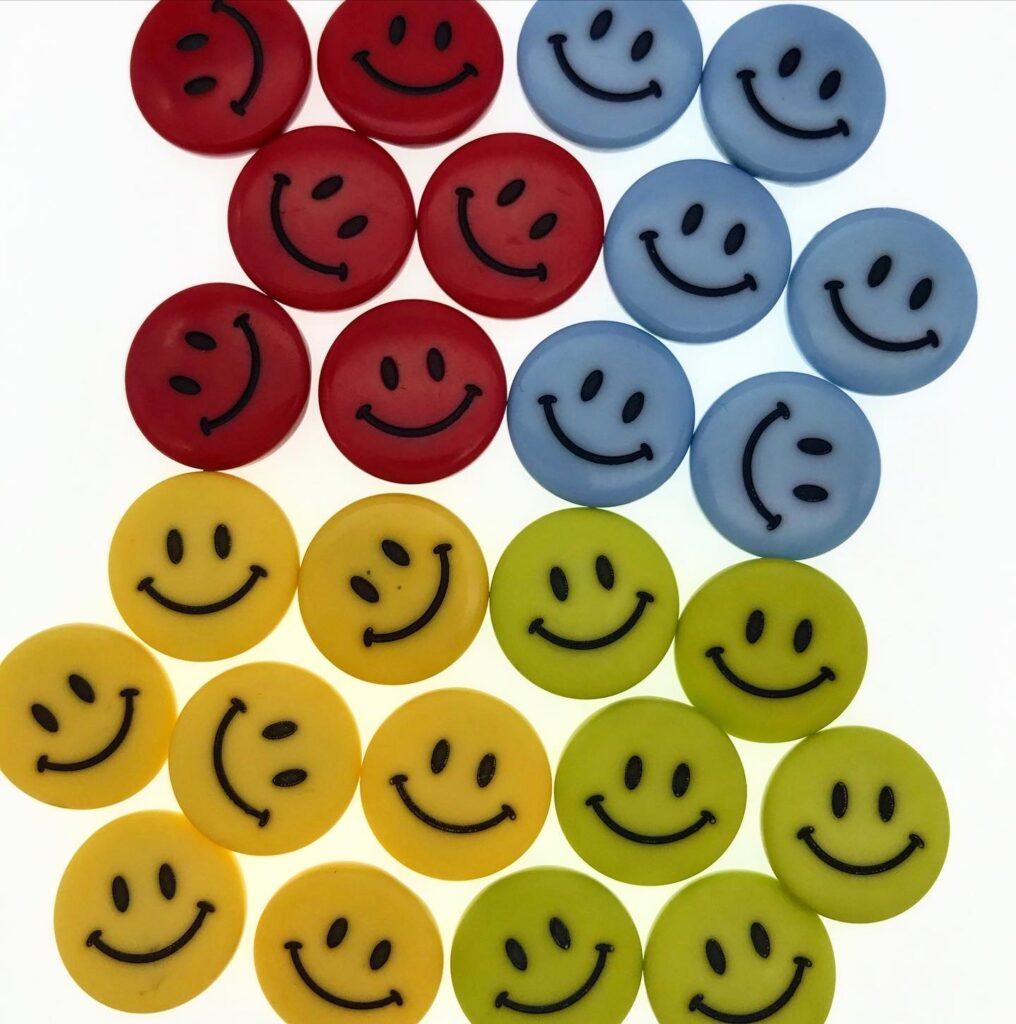 Knöpfe-Smiley