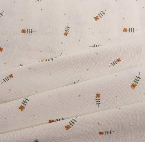 Baumwoll-Jerseystoff-weiß-mit-Blumen-Motiven