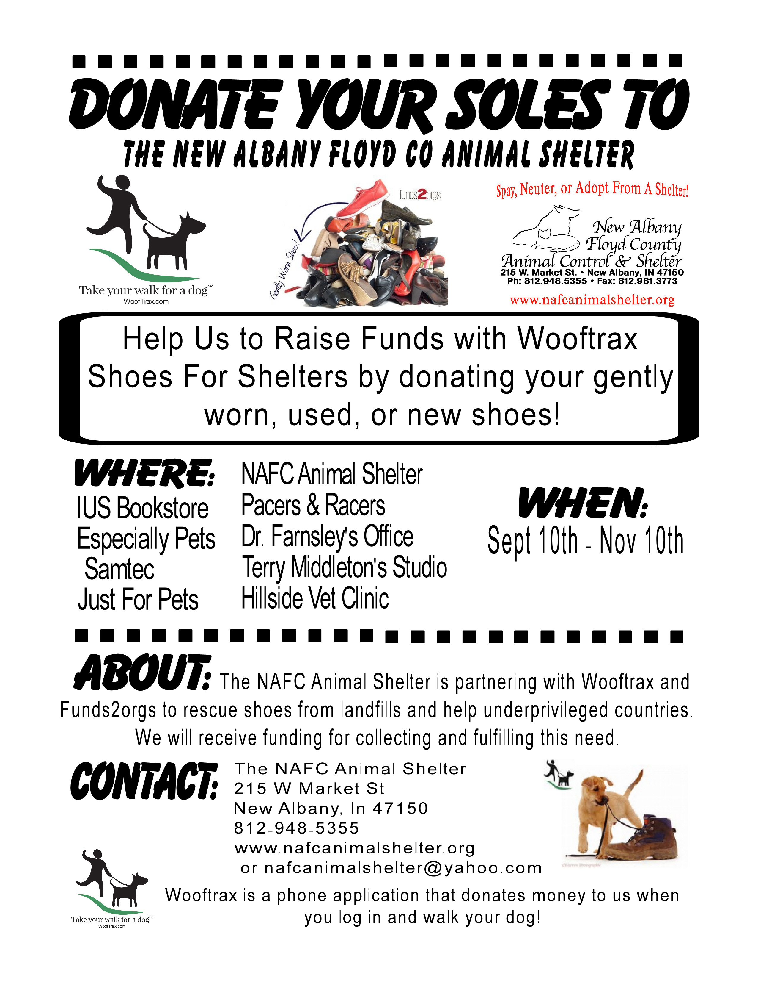 New Albany Floyd County Animal Shelter Donate Your Soles
