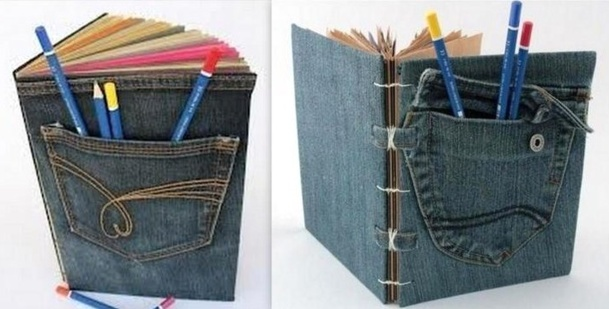 Couvertures De Livres En Jean Recycl Des Modles