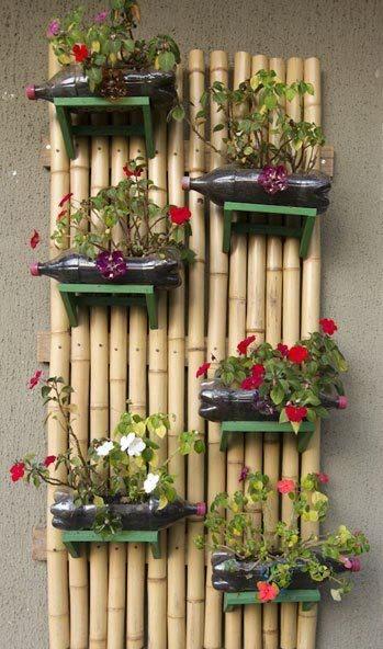 Jardinires en bouteille plastique de la rcup utile et conomique
