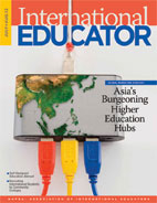 July/August International Educator cover