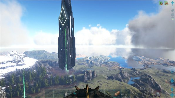 One of the structures on the map. It's unknown who or what put them there. These pillars allow you to enter boss fights and move between game maps.