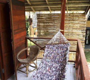 hammock on family bungalow balcony