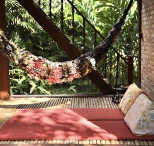 hammock jungle hut