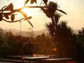 sunset view swimming pool