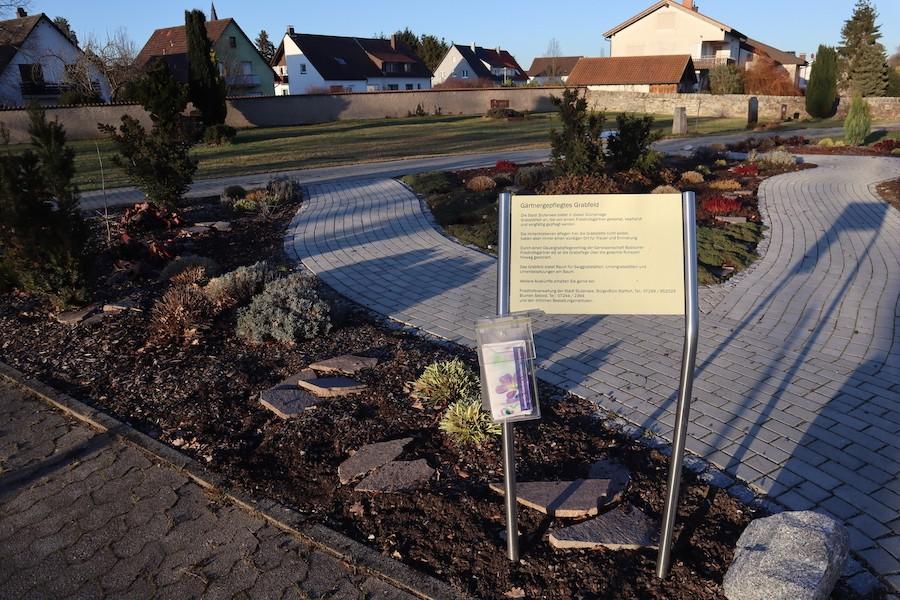 Friedhof Staffort - Gärtnergepflegtes Grab