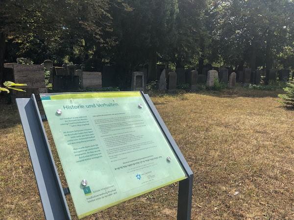 Friedhof Bruchsal jüdisches Grabfeld