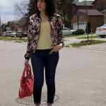 Outfit Of The Day: The Floral Bomber