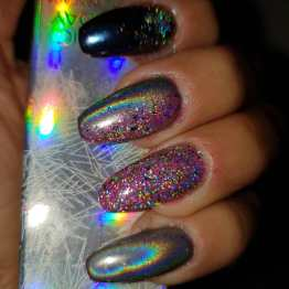 Holographic powder nagelglitter