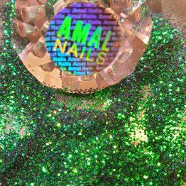 Chameleon grön- blå glitter