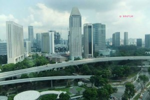 Singapore Flyer - View of Hotels at the Marina Square Area