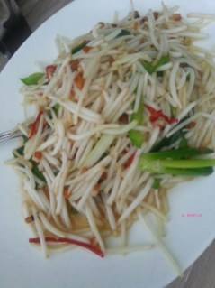 Fried Beansprouts with Salted Fish