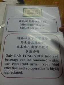 Lan Fong Yuen - Minimum Spending Notice