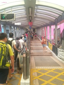 My Last Day in Hong Kong in June 2014 - Ascending Esclator for the Mid Level Escalator
