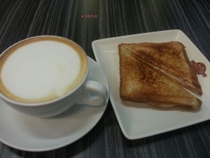 Coffee Culture - My Breakfast, Cappuccino and Ham & Cheese Toast