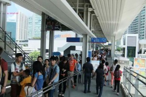 Day 3 In Hong Kong In July 2014 - Long Queue In the afternoon