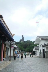Day 3 Holiday In Hong Kong In July 2014 - View of Big Buddha in Ngong Ping Village