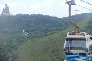 Day 3 Holiday In Hong Kong In July 2014 - View of Big Buddha from Cable Car
