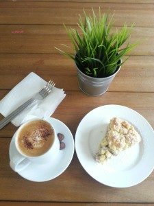 The Klatch - My Order, Cappuccino & Apple Crumble