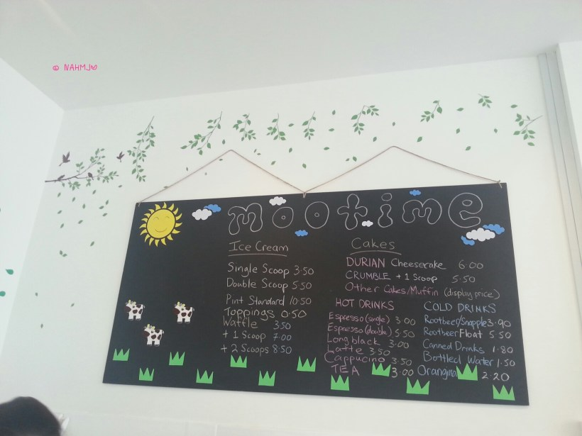 Mootime - Menu Board