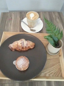 Pantler - My Order, Cappuccino, Almond Croissant and Choux Creme
