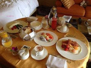 Pet Staycation At The Regent - At The Regent - Room Service Breakfast Spread