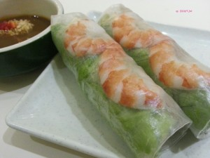 Wrap & Roll - Fresh Spring Roll with Prawn & Pork Roll (A4)