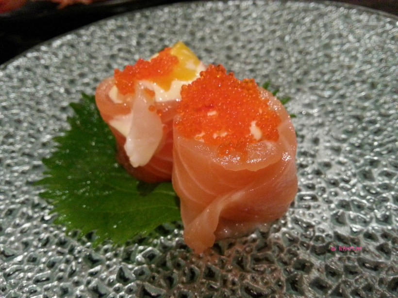Daikiya Japanese Restaurant - Salmon Sushi with Mayonaise