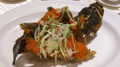 Tao Seafood Asia - Fried Garoupa in Thai Chilli Styled