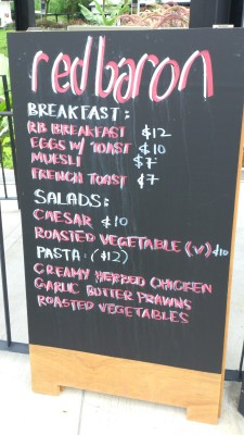 Red Barron Cafe - Food Menu