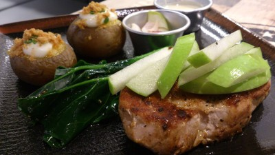 Three Little Pigs - Signature Pork Chop with Apple Beurre Blanc