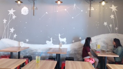 The Usual Place Cafe - Interior, By a Wall