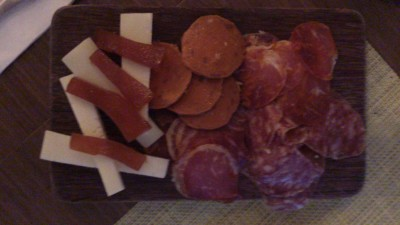Una @ One Rochester - Cold meats, pan con tomate & manchego cheese