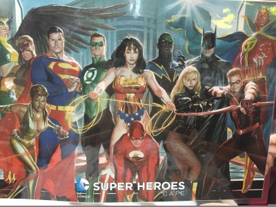 DC Comics Super Heroes Cafe - Dinner Menu (Back)