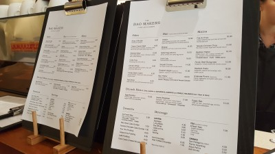 Bao Makers - Menu