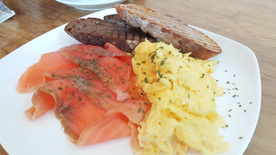 BlissHIVE Bakery Cafe - Smoked Salmon with Scramble Egg