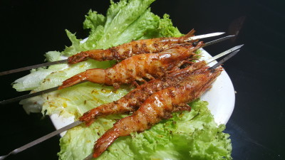 Big Moustache BBQ Skewers 大胡子串烧 - BBQ Prawns 烤大虾
