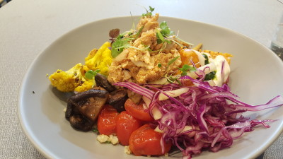 The Populus Coffee & Food Co - Roasted Chicken Grain Bowl