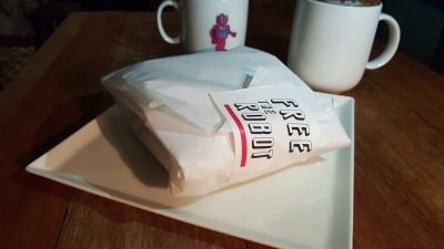 Free The Robot Cafe - Sandwich wrapped
