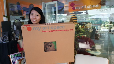 My Art Space Cafe - My Sister with her Art Piece Packed