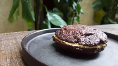 The Punch Cafe Singapore - Salted Caramel Brownie Cookie ($5.35)