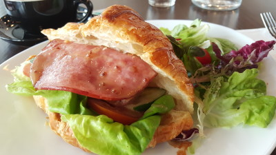 Dose Cafe On Tyrwhitt Road - Ham Bacon and Cheese Crossiant